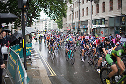Abby-Mae Parkinson (GBR) of Drops Cycling Team rides in the main group during the neutral lap of the Prudential Ride London Classique - a 66 km road race, starting and finishing in London on July 29, 2017, in London, United Kingdom. (Photo by Balint Hamvas/Velofocus.com)