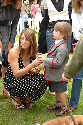 LIZ HURLEY and her son DAMON at Macmillan Dog Day in aid of Macmillan Cancer Support, held at Royal Hospital Chelsea, London on 3rd July 2007.<br /><br />NON EXCLUSIVE - WORLD RIGHTS