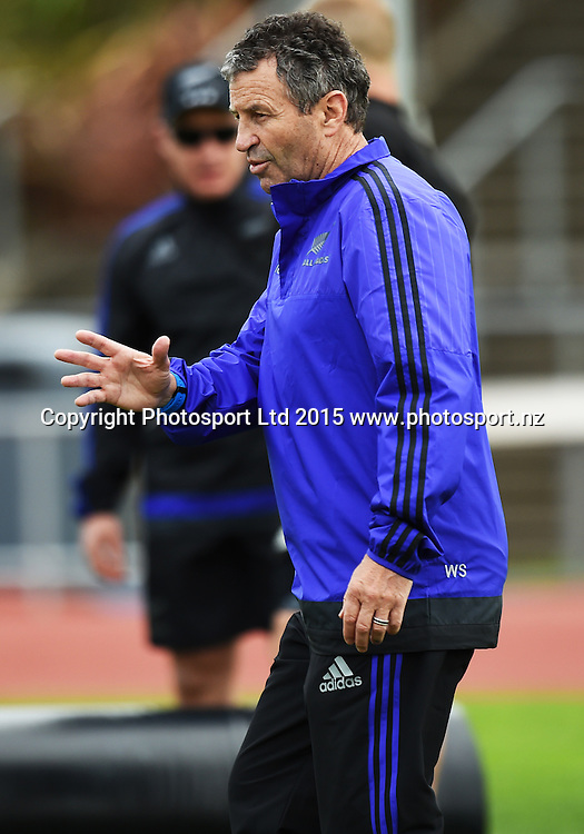 Wayne Smith during an All Blacks squad training session at Trusts Stadium ahead of the test match against Samoa next week. Auckland, New Zealand. Friday 3 July 2015. Copyright Photo: Andrew Cornaga / www.Photosport.nz