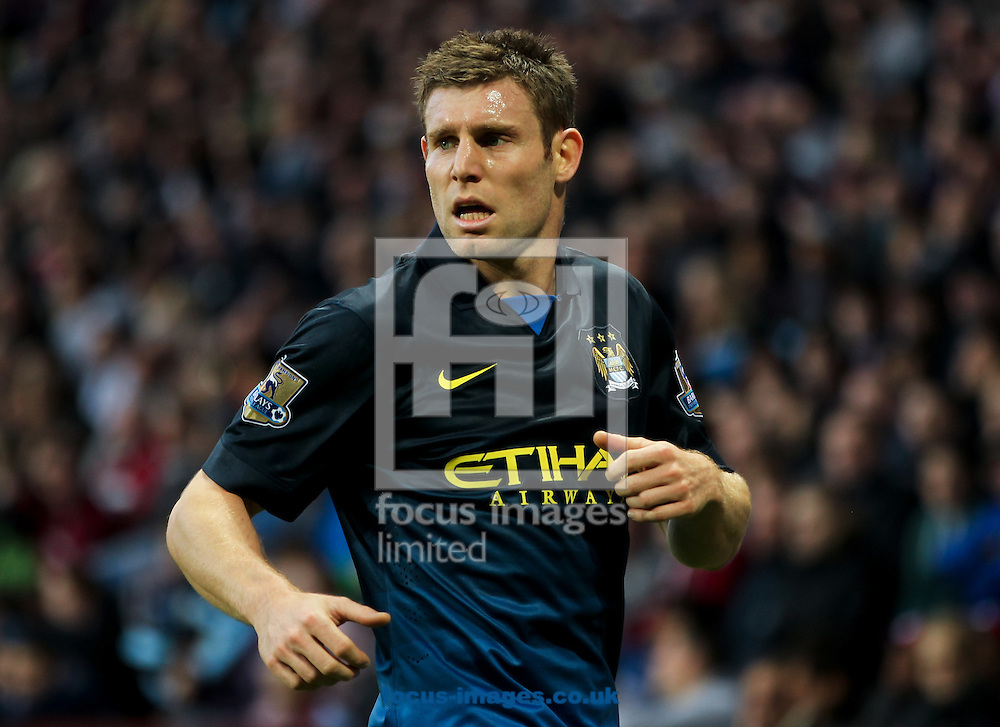 James Milner of Manchester City during the Barclays Premier League match at Villa Park, Birmingham<br /> Picture by Tom Smith/Focus Images Ltd 07545141164<br /> 04/10/2014