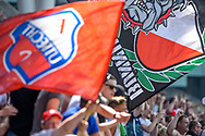 28-05-2017: Voetbal: FC Utrecht v AZ: Utrecht<br /> <br /> (L-R) Utrecht supporter zijn blij tijdens het Eredivisie duel tussen FC Utrecht en AZ op 28 mei 2017 in stadion Galgenwaard tijdens de finale play-offs <br /> <br /> Finale Play-offs, Eredivisie - Seizoen 2016 / 2017<br /> <br /> Foto: Gertjan Kooij