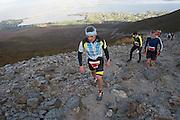 08/11/2014 repro free Bill Coyne, Westport on Croagh Patrick who took part in the Sea 2 Summit adventure race in Westport Co. Mayo. Photo:Andrew Downes