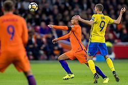 10-10-2017 NED: WK kwalificatie Nederland - Zweden, Amsterdam<br /> Oranje heeft Zweden met 2-0 verslagen. Het moest met zeven doelpunten verschil halen om nog kans te maken op plaatsing voor het WK. / kenny Tete #2 of Netherlands
