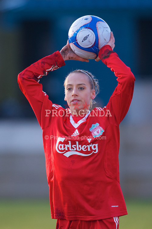 SKELMERSDALE, ENGLAND - Sunday, December 14, 2008: Liverpool's Natalie Holt in action against Birmingham City during the Women's FA Premier League match at the Ashley Travel Stadium. (Photo by David Rawcliffe/Propaganda)