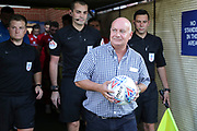 *** during the EFL Sky Bet League 1 match between AFC Wimbledon and Walsall at the Cherry Red Records Stadium, Kingston, England on 21 August 2018.