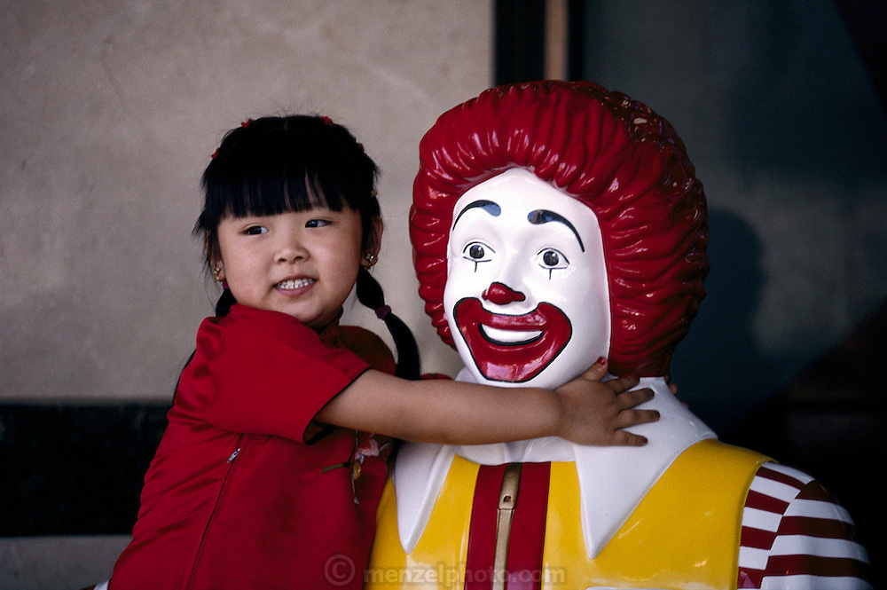 McDonald's icon in Shanghai, China. (From a photographic gallery of images of fast food, in Hungry Planet: What the World Eats, p. 95) Fast Food. Has any human invention ever been as loved and loathed as fast food? Feelings run deep about the huge U.S. fast-food chains, especially McDonald's and KFC. Internationally recognized as symbols of Americanization, globalization, and overflowing schedules, they are also symbols of convenience, reliability, and (usually) cleanliness.