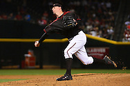 PHOENIX, AZ - APRIL 30:  Brad Ziegler #29 of the Arizona Diamondbacks delivers a pitch in the ninth inng against the Colorado Rockies at Chase Field on April 30, 2016 in Phoenix, Arizona.  (Photo by Jennifer Stewart/Getty Images)
