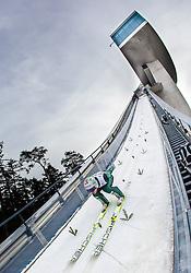03.01.2014, Bergisel Schanze, Innsbruck, AUT, FIS Ski Sprung Weltcup, 62. Vierschanzentournee, Training, im Bild Robert Kranjec (SLO) // Robert Kranjec (SLO) during practice Jump of 62nd Four Hills Tournament of FIS Ski Jumping World Cup at the Bergisel Schanze, Innsbruck, <br /> Austria on 2014/01/03. EXPA Pictures © 2014, PhotoCredit: EXPA/ JFK