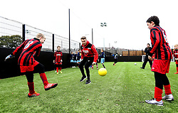 Luke Freeman of Bristol City plays with children during The BCCT EFL Kids Cup Final - Mandatory by-line: Robbie Stephenson/JMP - 23/11/2016 - FOOTBALL - South Bristol Sports Centre - Bristol, England - BCCT EFL Kids Cup