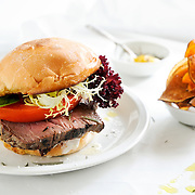 Steak Sandwich with Sweet Potato Chips