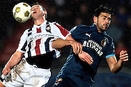 Onderwerp/Subject: Willem II - Feyenoord - Eredivisie<br /> Reklame:  <br /> Club/Team/Country: <br /> Seizoen/Season: 2012/2013<br /> FOTO/PHOTO: Robbie HAEMHOUTS (L) of Willem II in duel with Graziano PELLE (R) of Feyenoord. (Photo by PICS UNITED)<br /> <br /> Trefwoorden/Keywords: <br /> #04 $94 &plusmn;1354627667242<br /> Photo- &amp; Copyrights &copy; PICS UNITED <br /> P.O. Box 7164 - 5605 BE  EINDHOVEN (THE NETHERLANDS) <br /> Phone +31 (0)40 296 28 00 <br /> Fax +31 (0) 40 248 47 43 <br /> http://www.pics-united.com <br /> e-mail : sales@pics-united.com (If you would like to raise any issues regarding any aspects of products / service of PICS UNITED) or <br /> e-mail : sales@pics-united.com   <br /> <br /> ATTENTIE: <br /> Publicatie ook bij aanbieding door derden is slechts toegestaan na verkregen toestemming van Pics United. <br /> VOLLEDIGE NAAMSVERMELDING IS VERPLICHT! (&copy; PICS UNITED/Naam Fotograaf, zie veld 4 van de bestandsinfo 'credits') <br /> ATTENTION:  <br /> &copy; Pics United. Reproduction/publication of this photo by any parties is only permitted after authorisation is sought and obtained from  PICS UNITED- THE NETHERLANDS