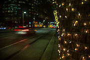 Houston, Smith street, Texas, night, traffic, lights.