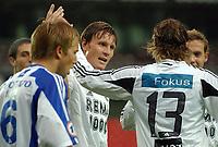 Fotball privatkamp Rosenborg IFK Göteborg 4-0<br /> Frode Johnsen etter scoring, Adam Johansson, IFK med ryggen til<br /> Foto: Carl-Erik Eriksson, Digitalsport