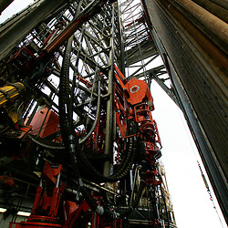A view of the drilling floor on board the Transocean Development Driller II rig leased by BP Plc which is drilling a backup relief well at the BP Plc Macondo well site in the Gulf of Mexico off the coast of Louisiana, U.S., on Saturday, August 7, 2010. BP successfully used the 'static kill', procedure  pumping mud into the top of the damaged well, BP plans now to finish a relief well to permanently plug the well by mid-August. Photographer: Derick E. Hingle/Bloomberg