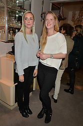 Left to right, HANNAH WEAVER and ANNA WILLCOX at a party at Guinevere 574-580 ing's Road, London on 7th October 2014.