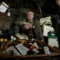 Derek Brown, Brands Heritage Manager in the cellar of Glenturret Distillery in Crieff where they will be holding a whisky sale.<br />