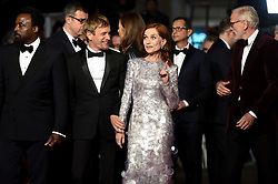 May 20, 2019 - Cannes, France - 72eme Festival International du Film de Cannes. Montée des marches du film ''Frankie''. 72th International Cannes Film Festival. Red Carpet for ''Frankie'' movie.....239579 2019-05-20  Cannes France.. Huppert, Isabelle; Greggory, Pascal; Renier, Jeremie (Credit Image: © L.Urman/Starface via ZUMA Press)