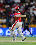 Virender Sehwag of the Kings X1 Punjab bats during match 15 of the Pepsi Indian Premier League 2014 Season between The Kings XI Punjab and the Kolkata Knight Riders held at the Sheikh Zayed Stadium, Abu Dhabi, United Arab Emirates on the 26th April 2014<br /> <br /> Photo by Pal Pillai / IPL / SPORTZPICS