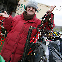 Margaret Hanrahan of Kilcoran Saddelery at the annual point to point meeting at Belhabour on Sunday.<br /><br />Photograph by Yvonne Vaughan.