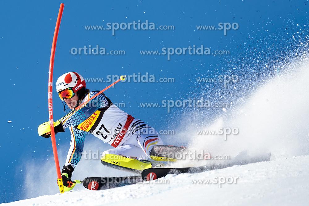 19.02.2017, St. Moritz, SUI, FIS Weltmeisterschaften Ski Alpin, St. Moritz 2017, Slalom, Herren, 1. Lauf, im Bild Linus Strasser (GER) // Linus Strasser of Germany in action during his 1st run of men's Slalom of the FIS Ski World Championships 2017. St. Moritz, Switzerland on 2017/02/19. EXPA Pictures © 2017, PhotoCredit: EXPA/ Johann Groder