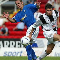 St Mirren v St Johnstone...16.08.03<br />Paul Bernard and Mark Crilly<br /><br />Picture by Graeme Hart<br />Perthshire Picture Agency<br />Tel: 01738 623350 / 07990 594431