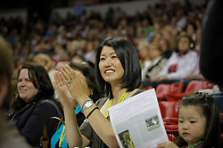 Akiko Yamazaki owner of the winning horse Ravel.<br /> Her husband Jerry Yang is co-founder and current CEO of Yahoo<br /> World Cup Final Las Vegas 2009<br /> Photo © Dirk Caremans