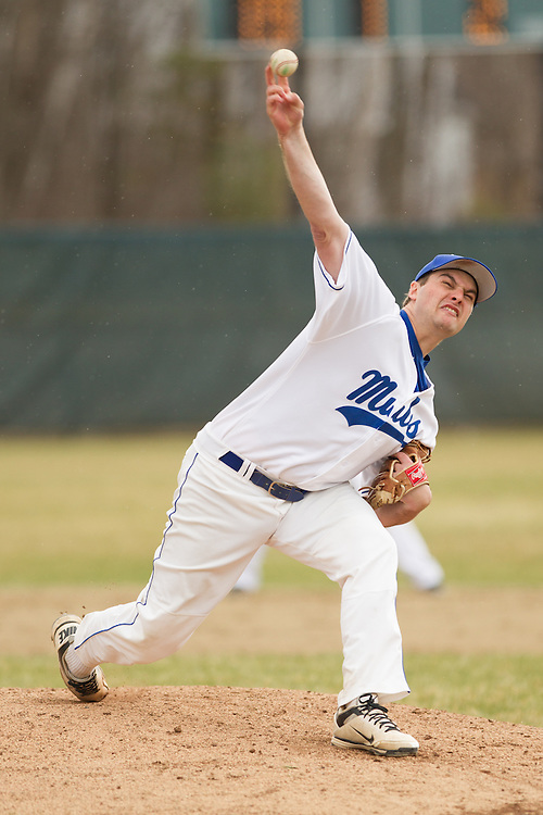 Dakota Rabbitt of Colby College, during a NCAA Division III baseball game against Bates College on April 25, 2014 in Waterville, ME. (Dustin Satloff/Colby Athletics)