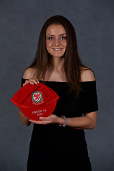 NEWPORT, WALES - Saturday, May 19, 2018: Josie Smith during the Football Association of Wales Under-16's Caps Presentation at the Celtic Manor Resort. (Pic by David Rawcliffe/Propaganda)