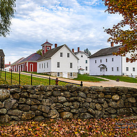 The Carpenters' shop and Brethren Shop at Canterbury Shaker Village, NH. <br />