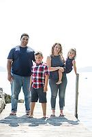 Filiere Family portraits at Dinsmoor Point cotage.  ©2019 Karen Bobotas Photographer