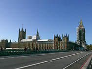 Parliment and Big Ben under construction as seen from the West minister Bridge. Photo by Dennis Brack