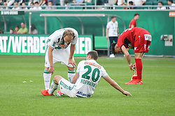 25.05.2019, Allianz Stadion, Wien, AUT, 1. FBL, SK Rapid Wien vs Cashpoint SCR Altach, Qualifikationsgruppe, 32. Spieltag, im Bild v.l. Mario Sonnleitner (Rapid Wien), Maximilian Hofmann (Rapid Wien), Mergim Berisha (SCR Altach) // during the tipico Bundesliga qualification group 32nd round match between SK Rapid Wien and Cashpoint SCR Altach at the Allianz Stadion in Wien, Austria on 2019/05/25. EXPA Pictures © 2019, PhotoCredit: EXPA/ Lukas Huter