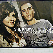 Subway Ad - Fight AIDS Ads -  SHE KNOWS HE KNOWS HIV testing - knowhivaids.org