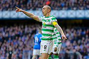 Scott Brown (#8) of Celtic FC gestures during the Ladbrokes Scottish Premiership match between Rangers and Celtic at Ibrox, Glasgow, Scotland on 29 December 2018.