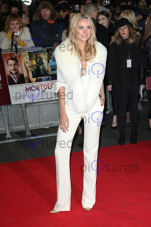 Kimberley Garner, Mortdecai - UK film premiere, Leicester Square, London UK, 19 January 2015, Photo by Richard Goldschmidt