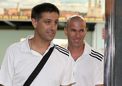 13.09.2011, Zagreb, CRO, UEFA CL, Real Madrid in Zagreb, im Bild eal Madrid players arrive to Zagreb airport the day before the Champions League match against Dinamo Zagreb. Zinedine Zidan. EXPA Pictures © 2011, PhotoCredit: EXPA/ nph/ Pixsell/ Petar Glebov +++++ ATTENTION - OUT OF GERMANY/(GER), CROATIA/(CRO), BELGIAN/(BEL) +++++