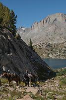Horse packing at Island Lake, Bridger Wilderness, Wind River range Wyoming