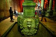 Medusa head, Underground Cistern, Istanbul, Turkey