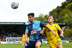 Joe Jacobson of Wycombe Wanderers takes on Sam Matthews of Bristol Rovers - Mandatory by-line: Robbie Stephenson/JMP - 18/08/2018 - FOOTBALL - Adam's Park - High Wycombe, England - Wycombe Wanderers v Bristol Rovers - Sky Bet League One