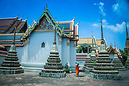 Monk walking outside at Wat Po Temple, Bangkok, Thailand