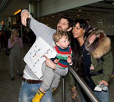 MAR 24 2014 Rihanna arrives at Heathrow from the US