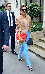 Victoria Beckham departs after her London Fashion Week SS19 show in Dover Street, London.