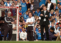 Photo: Leigh Quinnell.<br /> Birmingham City v Newcastle United. The Barclays Premiership. 29/04/2006. Newcastle caretaker manager Glenn Roeder on the touch line with Alan Shearer and Terry McDermott.