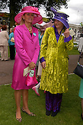Mrs. Kerry Gillespie and Mrs. Adrian Blackmore. Royal Ascot Race meeting Ascot at York. Tuesday 14 June 2005. ONE TIME USE ONLY - DO NOT ARCHIVE  © Copyright Photograph by Dafydd Jones 66 Stockwell Park Rd. London SW9 0DA Tel 020 7733 0108 www.dafjones.com