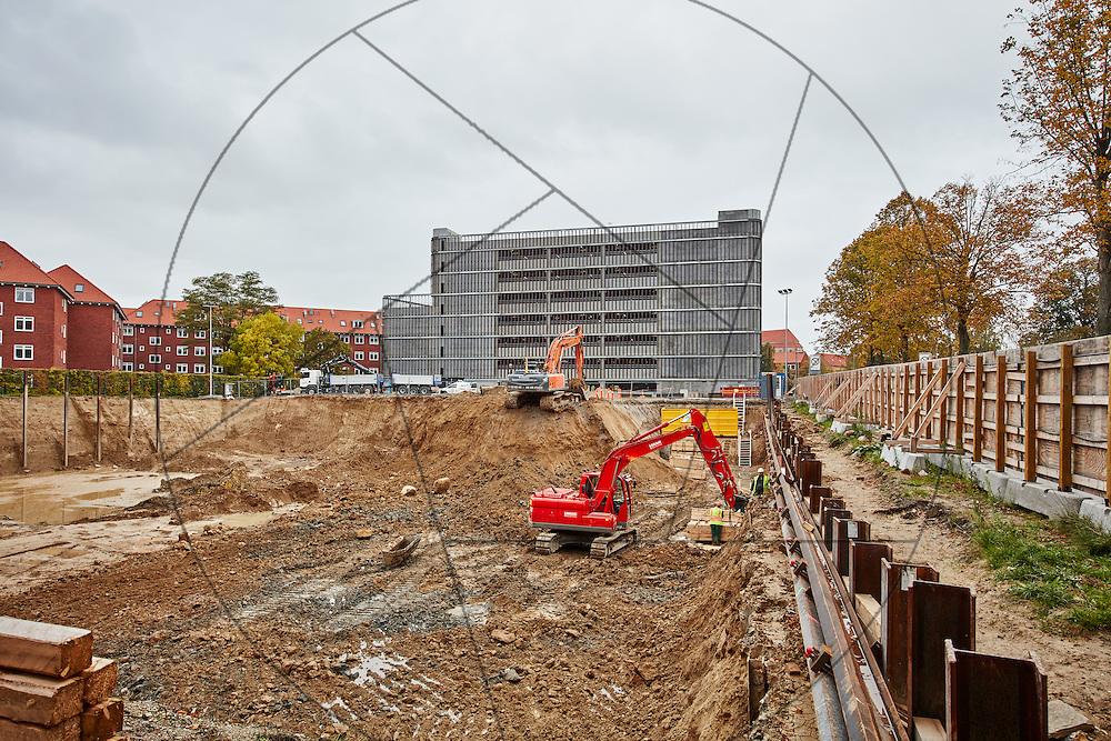 Udgravning til ny logistikbygning, Bispebjerg Hospital, Frederiksberg