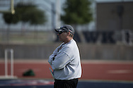 Hendrickson High School head football coach Chip Killian on the field for a morning practice at Hawk Field in Pflugerville on August 11, 2016.