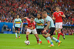 LILLE, FRANCE - Friday, July 1, 2016: Wales' Hal Robson-Kanu in action against Belgium during the UEFA Euro 2016 Championship Quarter-Final match at the Stade Pierre Mauroy. (Pic by David Rawcliffe/Propaganda)