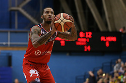 Gentry Thomas of Bristol Flyers with a free throw - Photo mandatory by-line: Arron Gent/JMP - 28/09/2019 - BASKETBALL - Crystal Palace National Sports Centre - London, England - London City Royals v Bristol Flyers - British Basketball League Cup