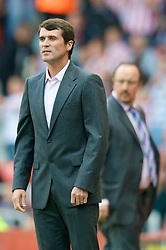 SUNDERLAND, ENGLAND - Saturday, August 16, 2008: Sunderland's manager Roy Keane during the opening Premiership match of the season at the Stadium of Light. (Photo by David Rawcliffe/Propaganda)