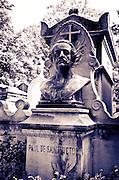 Headstone on Paul de Saint-Victor's grave, Père Lachaise Cemetery, Paris, France